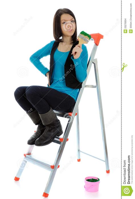 the house painter the girl is house painter stock images image 23279304