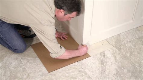 self stick vinyl tile installation youtube