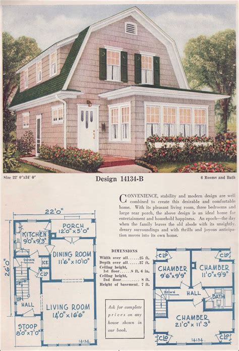English Cottage Floor Plans adorable vintage kit house with gambrel roof and shed