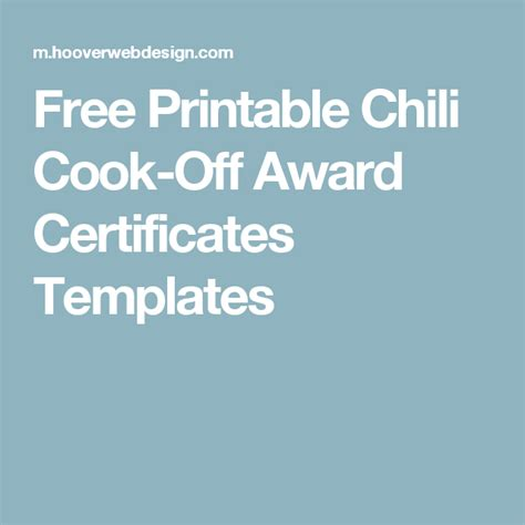 chili cook certificate template free printable chili cook award certificates templates