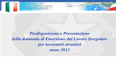 ministero dell interno immigrazione sanatoria valigie di cartone regolarizzazione stranieri 2012