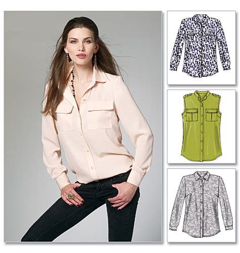 sewing pattern womens shirt mccall s 6436 misses women s shirts