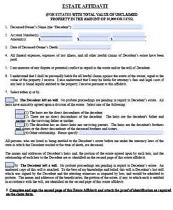 affidavit template florida free florida small estate affidavit form pdf word