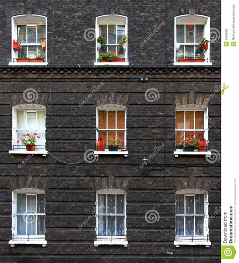 Small Apartment Building Plans apartment windows stock photo image 7526680