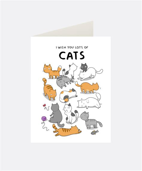 cat cards i wish you cats greeting card lingvistov