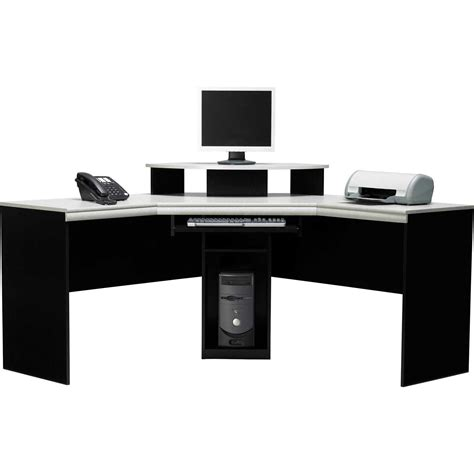 Black Corner Computer Desk With Hutch Office Furniture Black Corner Office Desk