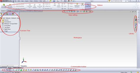 solidworks tutorial origin cad for dummies solidworks user interface