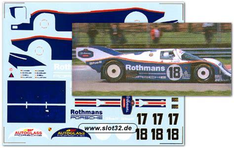 Rothmans Racing Aufkleber by Dmc Decal Porsche 962 Rothmans Slotcars Und Slotcar Zubeh 246 R