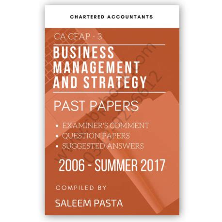 late essays 2006 2017 books ca cfap 3 business management yearly past papers from 2006