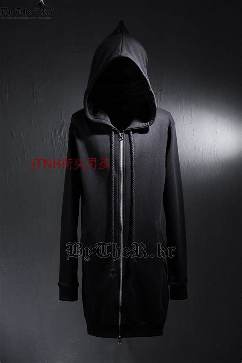Jaket Sweater Hoodie Zipper Big Size mens big and side zipper black hoodies oversized zip up oversized hoodie coat hip hop