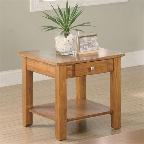 End Table With Shelf by Coaster Occasional End Table With Drawer And Base