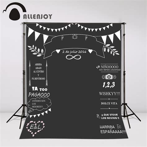backdrop design for photo booth allenjoy custom wedding blackboard name date photocall