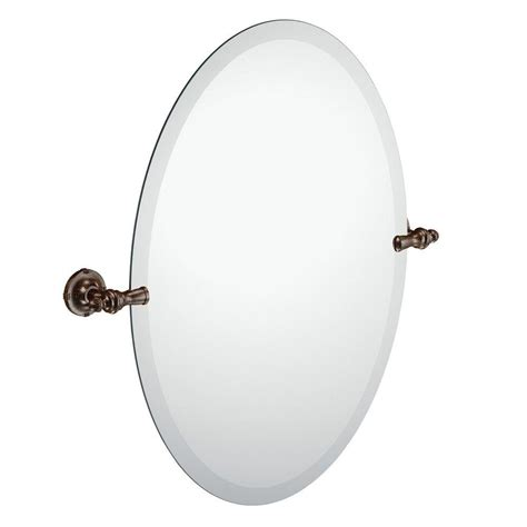 Pivoting Bathroom Mirror Moen Gilcrest 26 In X 23 In Frameless Pivoting Wall Mirror In Rubbed Bronze Dn0892orb