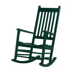 Hunter green wood slat seat outdoor rocking chair at lowes com