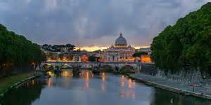 Where Is In Italy File Sant Angelo Bridge Dusk Rome Italy Jpg Wikimedia