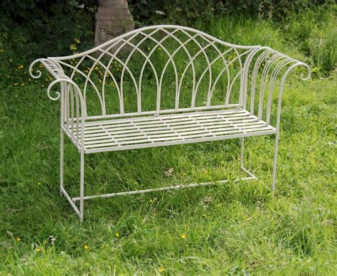 cream garden bench shabby chic garden bench cream garden bench steel outdoor