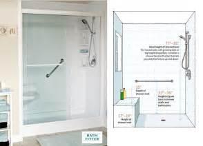 shower dimensions clearances amp measurements for bathrooms
