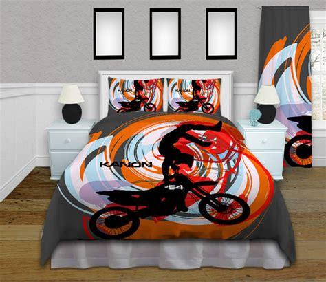 motocross comforter orange motocross comforter motocross by eloquentinnovations