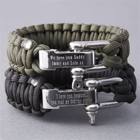 personalised paracord survival bracelet by suzy q designs   notonthehighstreet.com