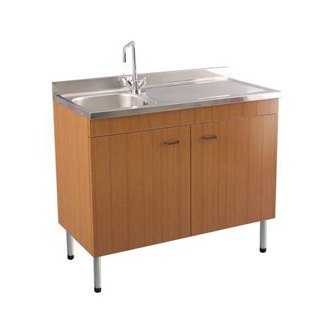 mobili lavello mobile con lavello teak 80 cm con gocciolatoio acciaio