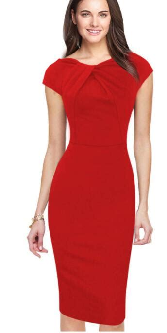tenglongwl crepe dress ruched bodycon elegant work office