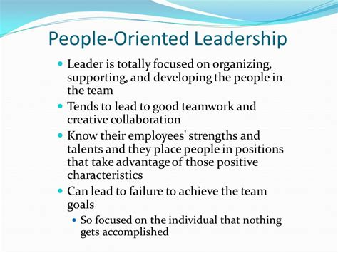advantages disadvantages of people oriented leadership styles leadership styles chapter ppt video online download