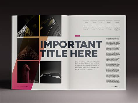 magazine style template gradient magazine indesign template by luuqas design