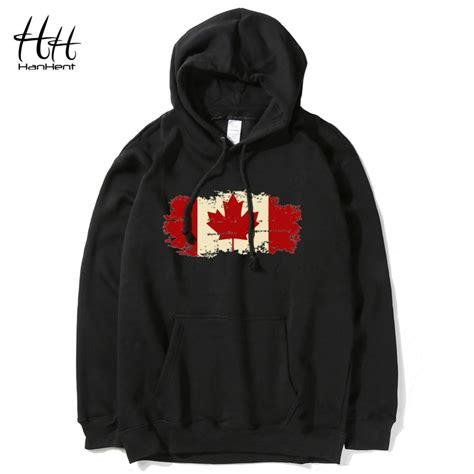 hanhent canada flag hoodies streetwear printed