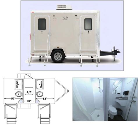 Mobiel Toilet Auto by Portable Bathrooms Restroom Trailers Mobile Shower Autos