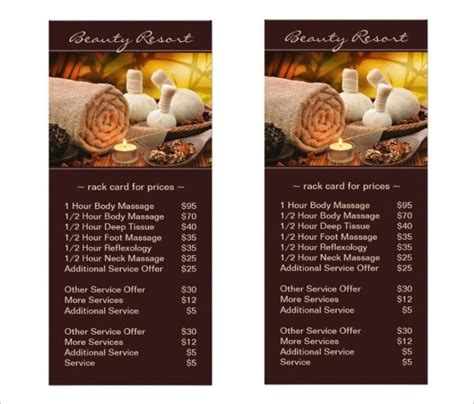 22 Spa Menu Templates Psd Eps Free Premium Templates Salon Service Menu Template