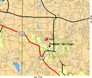 map of powder springs city data