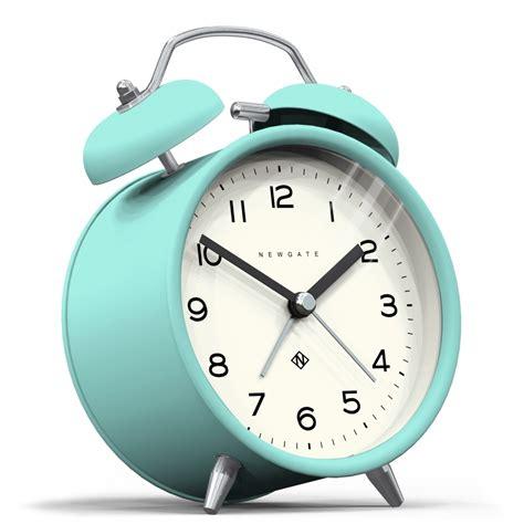 newgate clocks bell echo alarm clock aquamarine