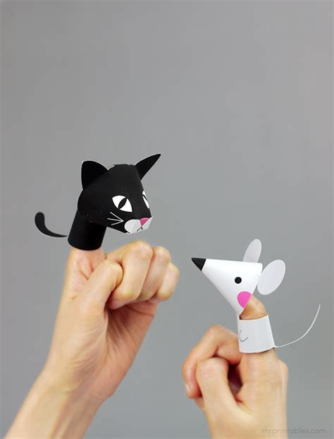 finger mouse template farm animal finger puppets mr printables