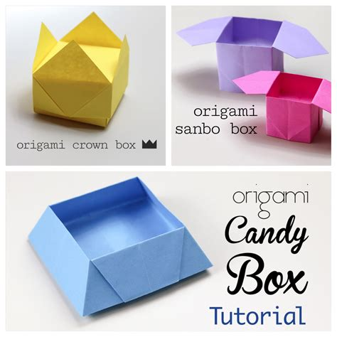 Box Origami - 3 easy origami boxes photo paper kawaii
