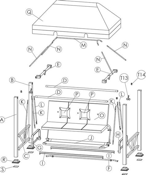 garden swing replacement parts sullivan pointe 3prs gazebo swing