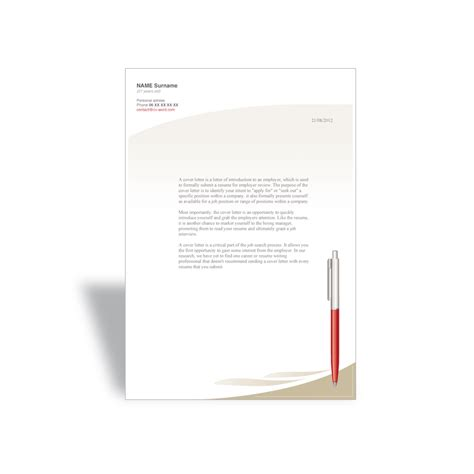 word cover letter template manager