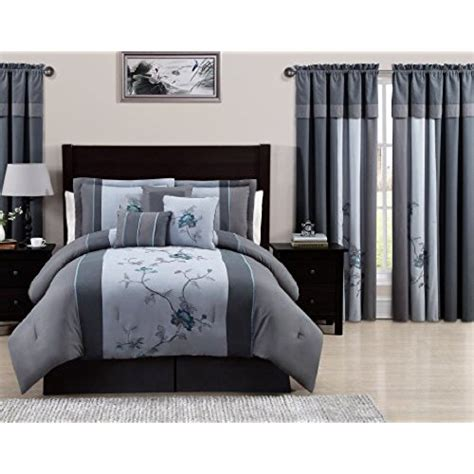 bedroom curtains and matching bedding bedding with matching curtains amazon com