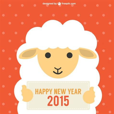 new year 2015 year of the sheep or goat new year with sheep vector free