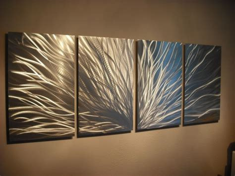 metal wall abstract contemporary modern decor