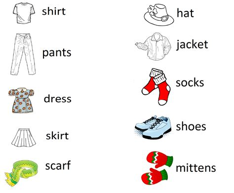 clothing vocabulary miss ashley s fabulous first grade page 4