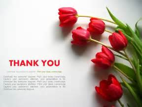 Powerpoint Templates Thank You by Thank You Slide With Flowers Powerpoint Slides