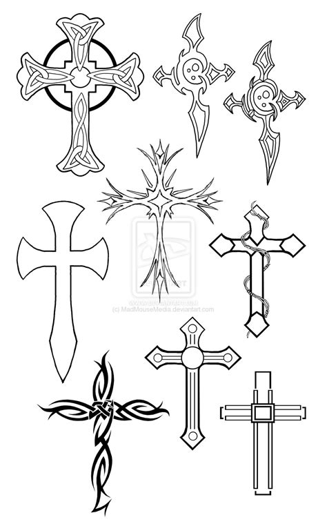 cross tattoo line drawing cross tattoos by madmousemedia on deviantart