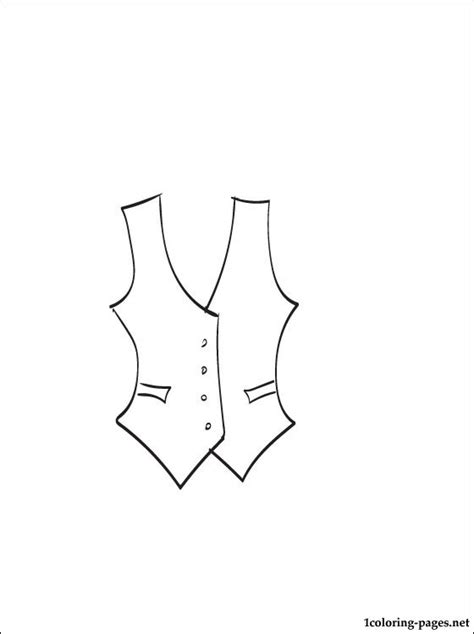 Vest coloring page | Coloring pages