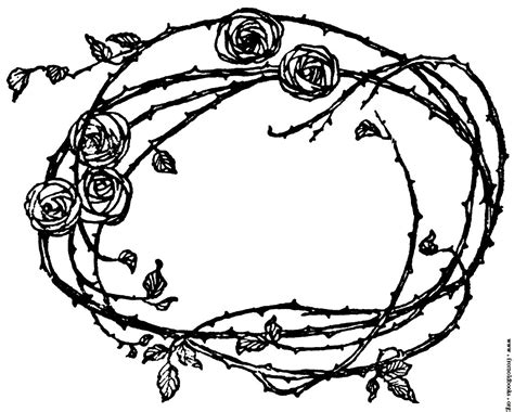 rose border coloring page free coloring pages of rose with thorns