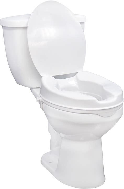 raised toilet seat with lock and lid drive