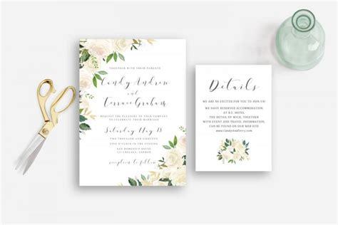 printable wedding invitations watercolor wedding invitation floral watercolor garden greenery