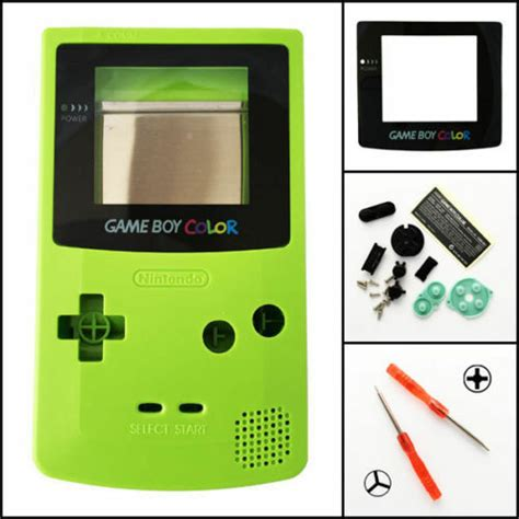 gameboy color green gbc nintendo boy color replacement housing shell