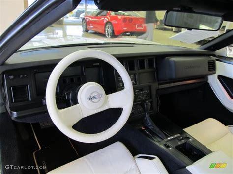 white interior 1988 chevrolet corvette 35th anniversary