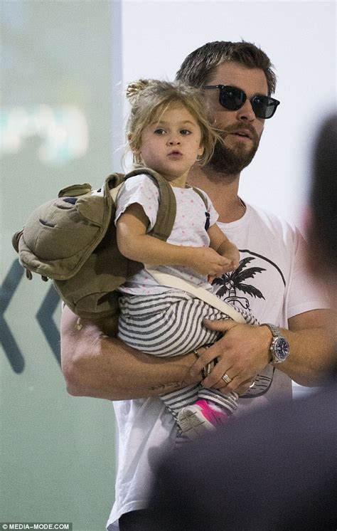 Shades Of Blue Design by Chris Hemsworth And Wife Elsa Pataky Dote On Daughter