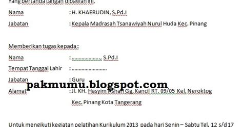 contoh surat tugas untuk verval pd 28 images contoh surat tugas